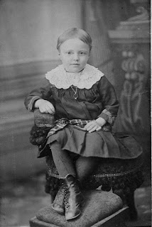 old portrait of child