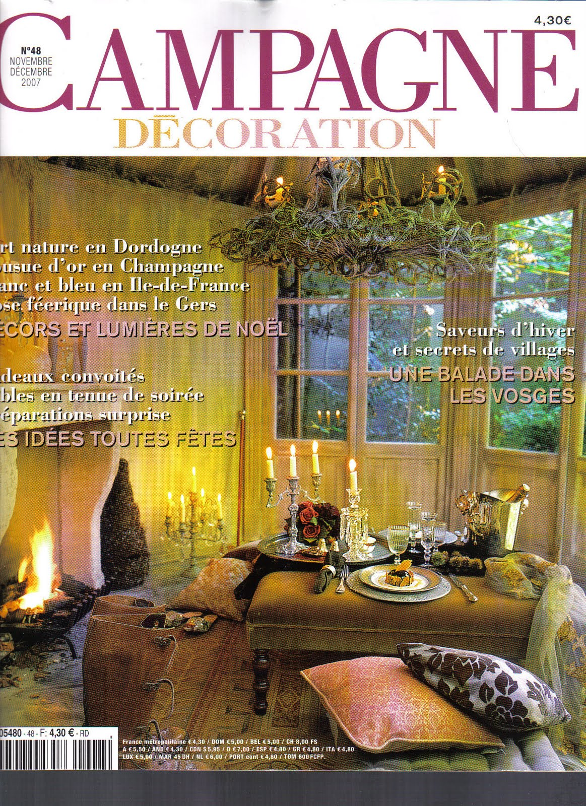 Magazine Campagne Décoration Vintage Maison French Chateau Chic For The Winter Season