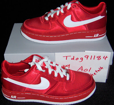 Womenu0027s Valentine Air Force Ones 07(made Of Satin, Release 1 20 07) Source  NT