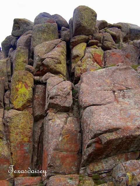 Rock face of Mt Scott in Lawton, Oklahoma area