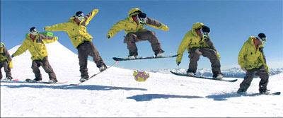 Snowboarding Trick : Olies