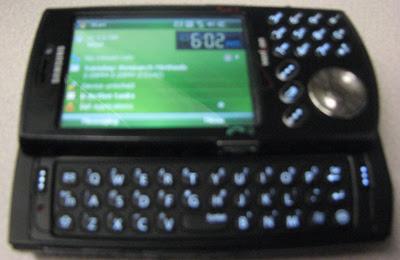 opened Samsung phone