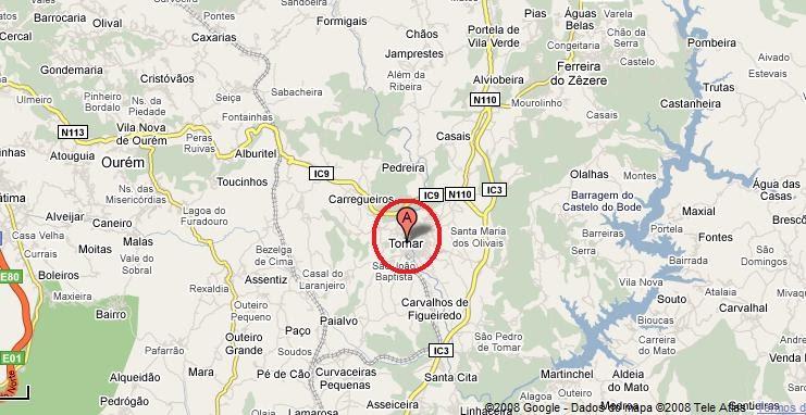 tomar mapa de portugal Tomar, a Cidade: MAPA DE TOMAR tomar mapa de portugal