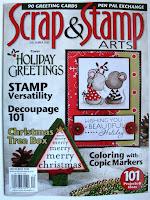 Incorporate texture--Scrap & Stamp Arts--December 2010