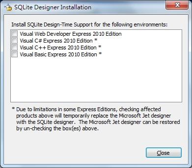 輕鬆工作家: 在 Visual Studio 2010 C# 使用 Sqlite