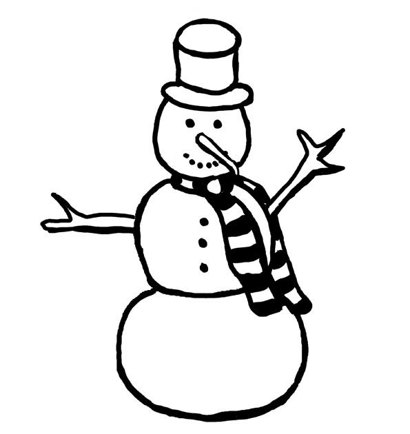 Andrea Hazard Children's Books: Snowman coloring page