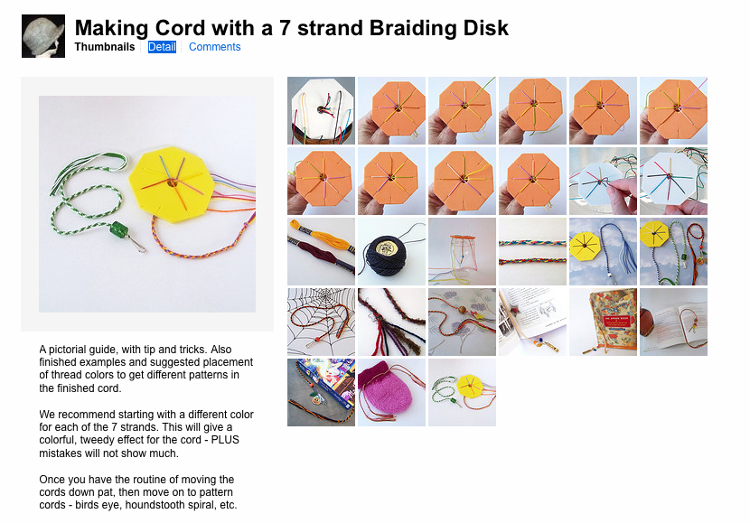 A Tranquil Nook: Hand Braided Cord - Simple, basic, 7 Strand Method