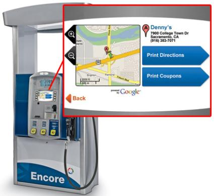 Google now available at gas pump stations