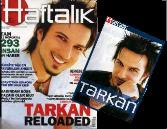 A Tarkan booklet supplement printed specially in 2003 for Haftalik magazine