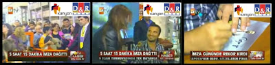 Tarkan's signing day on ATV news