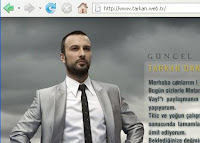 Tarkan fans can access Tarkan's website at the address webtr