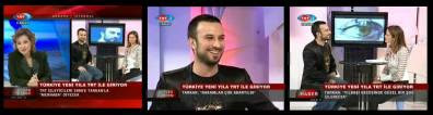 Tarkan appeared live on TRT's final evening news slot of the year
