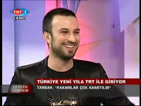 Tarkan on TRT's evening news broadcast