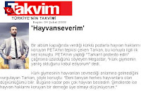 Tarkan comments about PETA protest to Takvim
