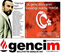 Tarkan on Gencim's front cover