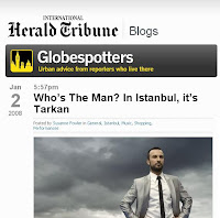 Tarkan features at the IHT's blog Globespotters