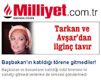 Millyet's politically charged headline about the event