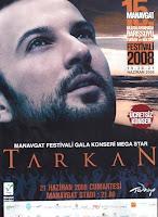 Tarkan poster for Manavgat festival