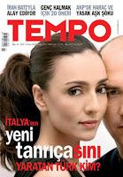 Ambra Angiolini on cover of Tempo magazine