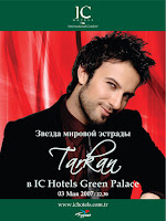Tarkan will appear in Antalya for a one-off special on 03 May 2007