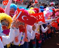 Children Celebrating in Kusadasi, Turkey