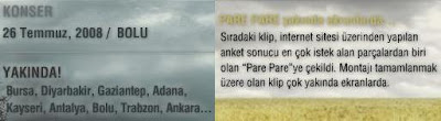 Updates at Tarkan's official site
