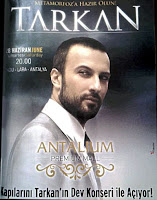 Tarkan Advert for Antalium Shopping Mall Show