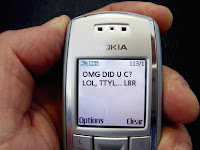 Text speak was designed to accommodate the small number of characters allowed for mobile text messages and as a convenient language for the small keypads on mobile phones