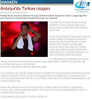 IHA report on the Tarkan Antalium show