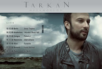 Tarkan's December 2008 shows posted up at the artist's official site