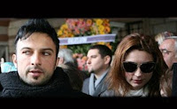Tarkan and Bilge reunited at a funeral ceremony in Istanbul on Friday