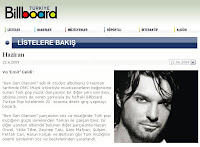 Billboard's weekly look at the Turkish charts sees Tarkan signed act Emir enter at 22nd place