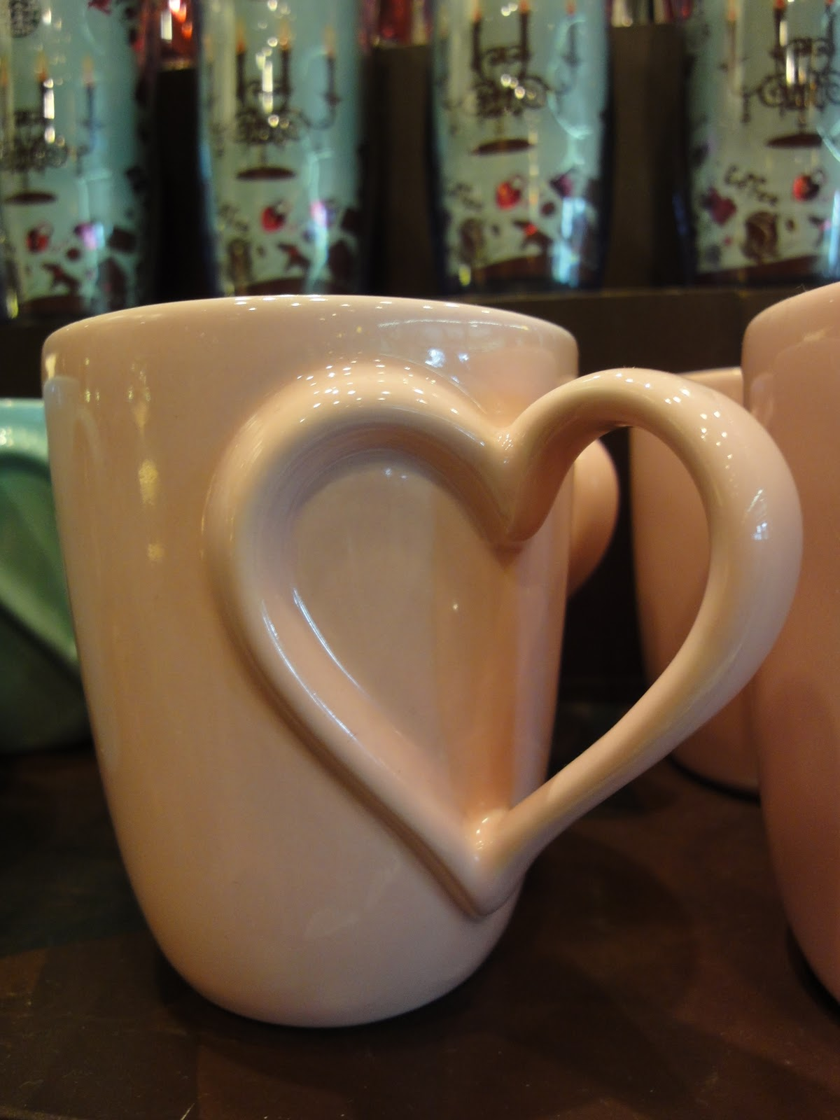 Picture of a mug with a heart shaped handle