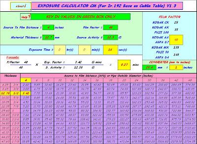 Exposure calculator tf also ndt non destructive testing radiographic for ir rh ut manspot