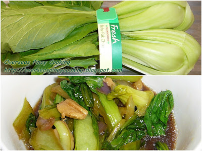 Adobong Bok Choy, Chinese Cabbage Adobo - Cooking Procedure
