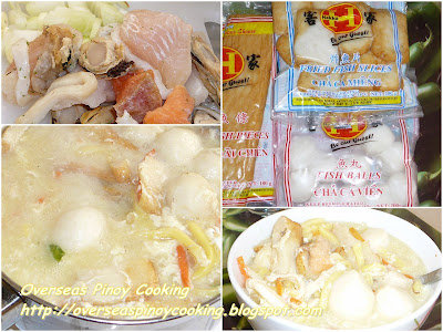 Seafood Lomi - Cooking Procedure