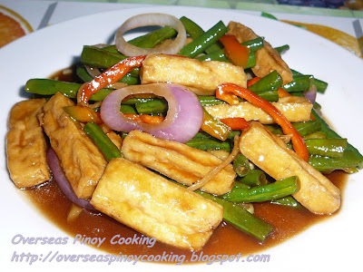 Sitaw at Tokwa with Oyster Sauce
