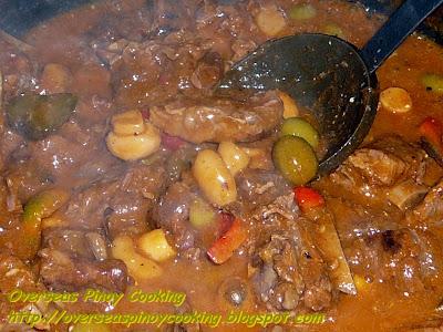 Special Beef Caldereta - Cooking Procedure