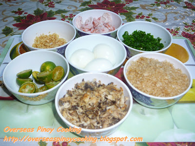 Pansit Palabok, Pansit Luglog - Garnishing