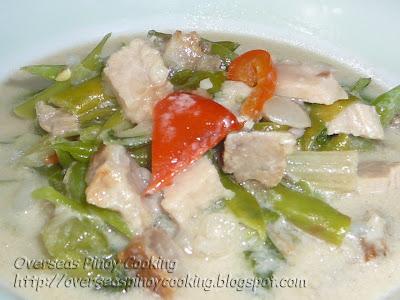 Ginataang Lechon Kawali at Baguio Beans