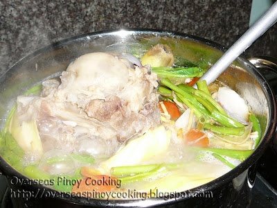 Bulalo, Sinigang na Bulalo - Cooking Procedure