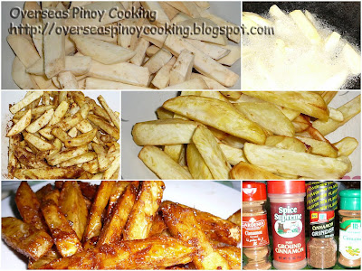 Fried Kamote - Cooking Procedure