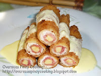 Chicken and Ham with Cheese Rolls, Chicken Cordon Bleu Rolls