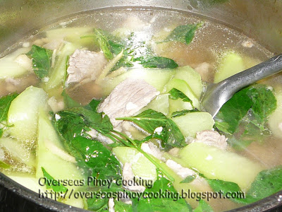 Pork Loin in Ginger Soup, Tinolang Lomo - Cooking Procedure
