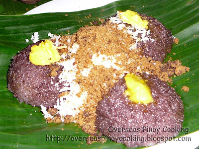 Puto Bumbong - Topped with Margarine, Coconut and Sugar