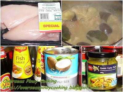 Thai Green Chicken Curry - Cooking Procedure
