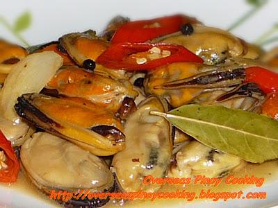 Adobong Tahong, Mussels in Vinegar