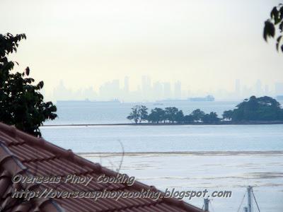 Singapore Skyline Striked by Lightning