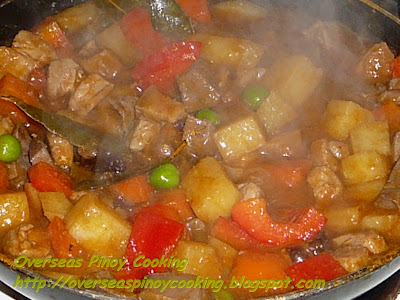 Menudo with Baked Beans - Cooking Procedure