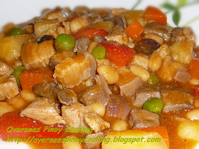 Menudo with Baked Beans